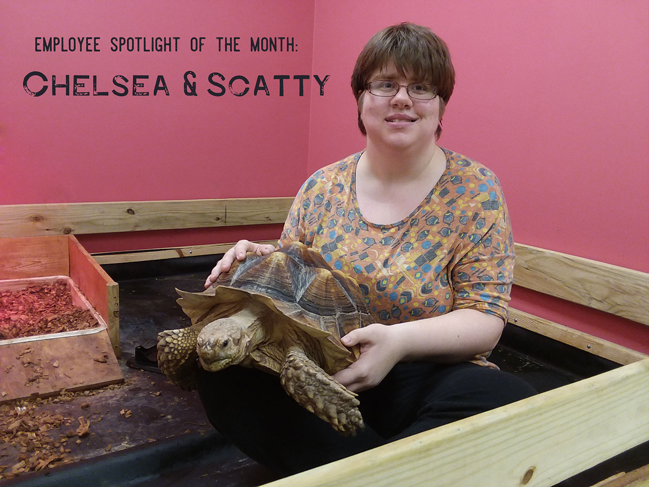 Chelsea Moritz with Scatty