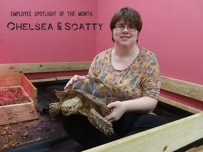 Chelsea with Scatty: Employee(s) of the month
